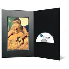 DVD/CD Fotomappe für 15x20 cm - schwarz - silber schwarze Maske- Silber/schwarzer Rand Produktbild