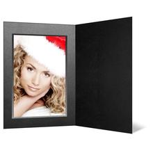 Eventmappe ohne Tasche für 15x20 cm - schwarz matt - silber/schwarze Maske Produktbild