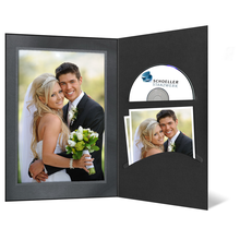 DVD/CD Fotomappe für 13x18 cm - schwarz - silber schwarze Maske- Silberrand Produktbild