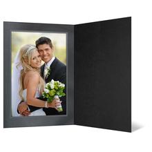 Eventmappe ohne Tasche für 13x18 cm - schwarz matt - silber/schwarze Maske Fantasy - Silberrand Produktbild