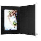 Eventmappe ohne Tasche für 15x20 cm - schwarz matt - schwarz gerippte Maske Produktbild