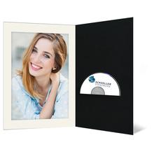 DVD/CD Fotomappe für 15x20 cm - schwarz - creme gerippte Maske- ohne Rand Produktbild