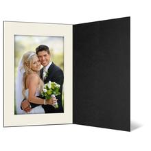 Eventmappe ohne Tasche für 15x20 cm - schwarz matt - creme gerippte Maske Produktbild