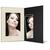 Portraitmappe mit Tasche für 13x18 cm - schwarz - creme satinierte Maske Produktbild Front View 2XS