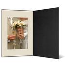 Eventmappe ohne Tasche für 13x18 cm - schwarz  - creme satinierte Maske Produktbild