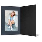 Eventmappe ohne Tasche für 13x18 cm - schwarz  - anthrazit satinierte Maske Produktbild