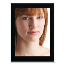 Einzelpassepartout für 15x20 cm - schwarz - mit Rückwand Produktbild