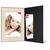 Portraitmappe mit Tasche für 15x20 cm - schwarz - creme satinierte Maske -Blindprägung Produktbild Front View 2XS