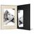 Portraitmappe mit Tasche für 15x20 cm - schwarz - creme satinierte Maske -Blindprägung Produktbild Additional View 2 2XS