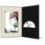 DVD/CD Fotomappe für 15x20 cm - schwarz - creme satinierte Maske - Blindprägung Produktbild Front View 2XS
