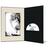 DVD/CD Fotomappe für 15x20 cm - schwarz - creme satinierte Maske - Blindprägung Produktbild Additional View 2 2XS