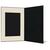 DVD/CD Fotomappe für 15x20 cm - schwarz - creme satinierte Maske - Blindprägung Produktbild Additional View 3 2XS