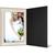 Eventmappe ohne Tasche für 15x20 cm - schwarz matt - creme satinierte Maske Produktbild Front View 2XS