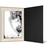 Eventmappe ohne Tasche für 15x20 cm - schwarz matt - creme satinierte Maske Produktbild Additional View 2 2XS