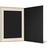 Eventmappe ohne Tasche für 15x20 cm - schwarz matt - creme satinierte Maske Produktbild Additional View 3 2XS