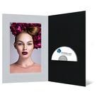 DVD/CD Fotomappe für 15x20 cm - schwarz - silber satinierte Maske - Blindprägung Produktbild