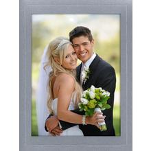 Fotomaske für 15x20 cm - silber satiniert - ohne Rückwand Produktbild