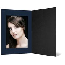 Eventmappe ohne Tasche für 20x30 cm - schwarz matt - blau gerippte Maske Produktbild