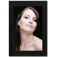 Einzelpassepartout für 20x30 cm - schwarz - mit schwarzer Rückwand Produktbild
