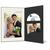DVD/CD Fotomappe für 10x15 cm - schwarz - creme gerippte Maske - ohne Rand Produktbild Front View 2XS