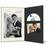 DVD/CD Fotomappe für 10x15 cm - schwarz - creme gerippte Maske - ohne Rand Produktbild Additional View 2 2XS
