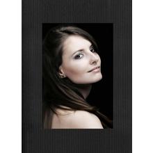 Aufsteller für 10x15 cm - schwarz gerippt - mit schwarzem starkem Rücken Produktbild