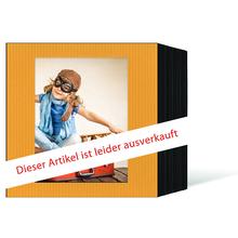 quadratisches Endlosleporello für 13x18 cm - schwarz - gelb gerippte Maske - 100 Teile  Produktbild