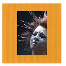 Fotomaske quadratisch für 13x18 cm - gelb gerippt - ohne Rückwand Produktbild