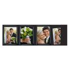 4-teilige Portraitmappe mit Tasche für 13x18 cm schwarz mit silber Pinsel Rand Produktbild