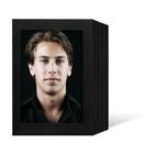 Endlosleporello für 13x18 cm - schwarz - schwarz gerippte Maske - 100 Teile  Produktbild