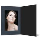Eventmappe ohne Tasche für 10x15 cm - schwarz  - anthrazit satinierte Maske Produktbild