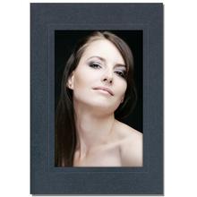 Aufsteller für 10x15 cm - anthrazit satiniert - mit schwarzem starkem Rücken Produktbild