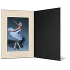 Eventmappe ohne Tasche für 10x15 cm - schwarz  - creme satinierte Maske Produktbild