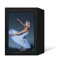 Endlosleporello für 13x18 cm - schwarz - schwarze Maske - silber Tuscherand - 100 Teile  Produktbild
