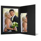 Portraitmappe mit Tasche für 13x18 cm schwarz mit silber Tuscherand Produktbild