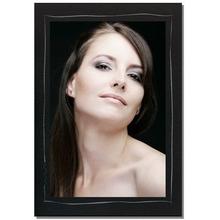 Einzelpassepartout für 13x18 cm - schwarz - mit silber Tuscherand - mit Rückwand Produktbild