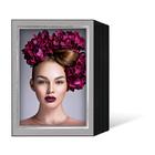 Endlosleporello für 13x18 cm - schwarz - grau filzgeprägte Maske - Silberrand - 100 Teile  Produktbild