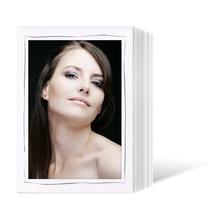 Endlosleporello für 13x18 cm - weiß - weiß matte Maske - grauer Tuscherand - 100 Teile  Produktbild
