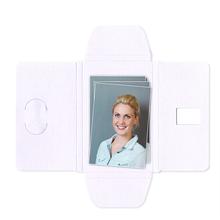 Faltmappen Schmetterling für Bilder 5x8 cm - weiß matt Produktbild
