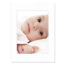 Aufsteller für 13x18 cm - weiß Filzprägung ohne Rand - mit weißem starkem Rücken Produktbild