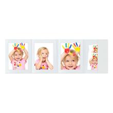 4-teilige Portraitmappe mit Tasche für 13x18 cm -  weiß glänzend - ohne Rand Produktbild