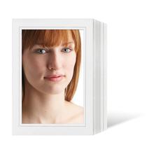 Endlosleporello für 13x18 cm - weiß - weiß matte Maske - grauer Rand - 100 Teile  Produktbild