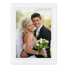 Aufsteller für 13x18 cm - weiß matt mit grauem Rand - mit weißem starkem Rücken Produktbild