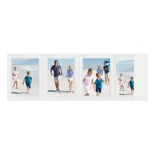 4-teilige Portraitmappe mit Tasche für 13x18 cm weiß matte Maske mit grauem Rand Produktbild