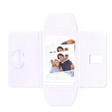 Faltmappen Schmetterling für Bilder 13x18 cm - weiß matt Produktbild