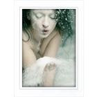 Aufsteller für 13x18 cm - weiß glänzend grauer Rand - mit weißem starkem Rücken Produktbild