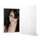 Eventmappe ohne Tasche für 10x15 cm - weiß glänzend - Goldrand Produktbild