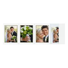 4-teilige Portraitmappe mit Tasche für 13x18 cm weiß glänzend mit Goldrand Produktbild