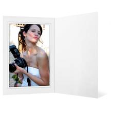 Eventmappe ohne Tasche für 20x30 cm - weiß glänzend - grauer Rand Produktbild
