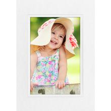 Aufsteller für 15x20 cm - weiß Filzprägung mit Blindprägung - mit weißem starken Rücken Produktbild